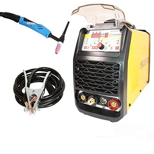 WELDINGER WIG-Schweißgerät WE 202P DC HF-Zündung Puls digitale Steuerung 200 A 5 Jahre Garantie